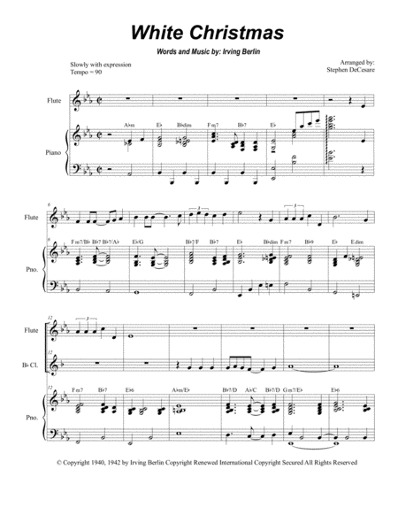 White Christmas (Duet for Flute and Bb-Clarinet)
