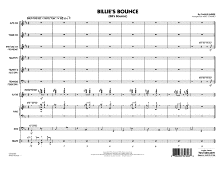 Billie's Bounce - Full Score