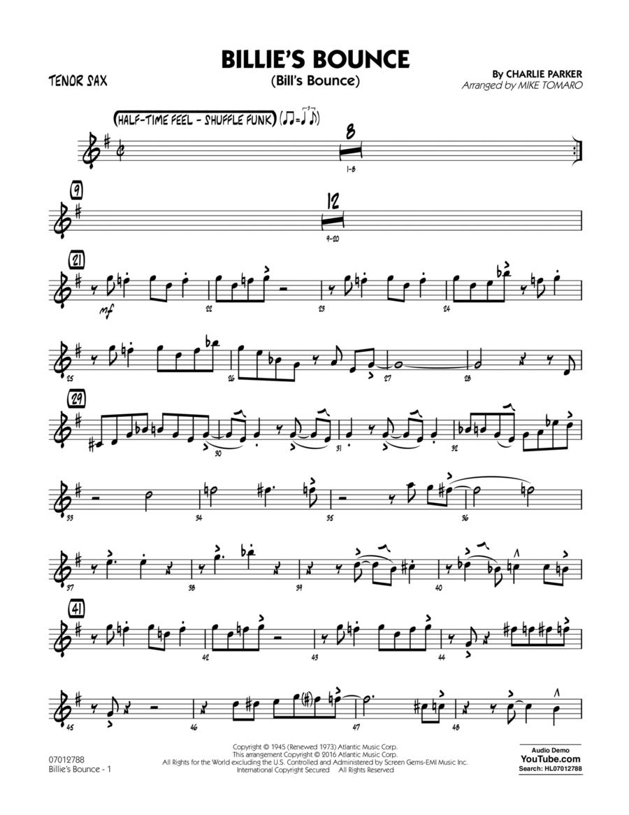 Billie's Bounce - Tenor Sax