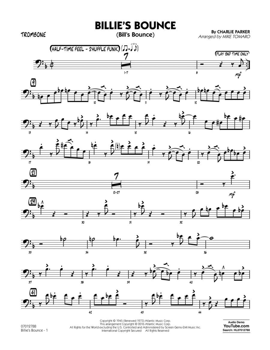 Billie's Bounce - Trombone