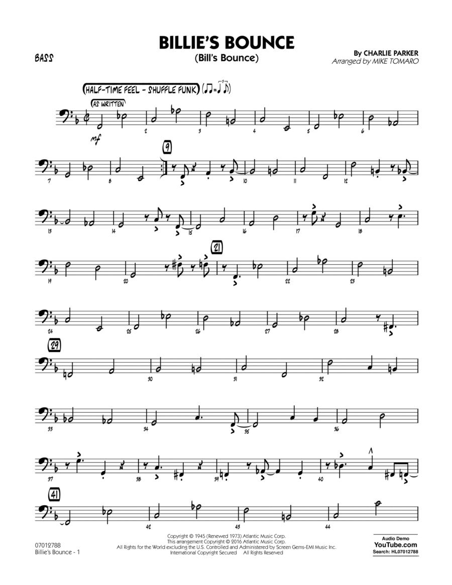 Billie's Bounce - Bass