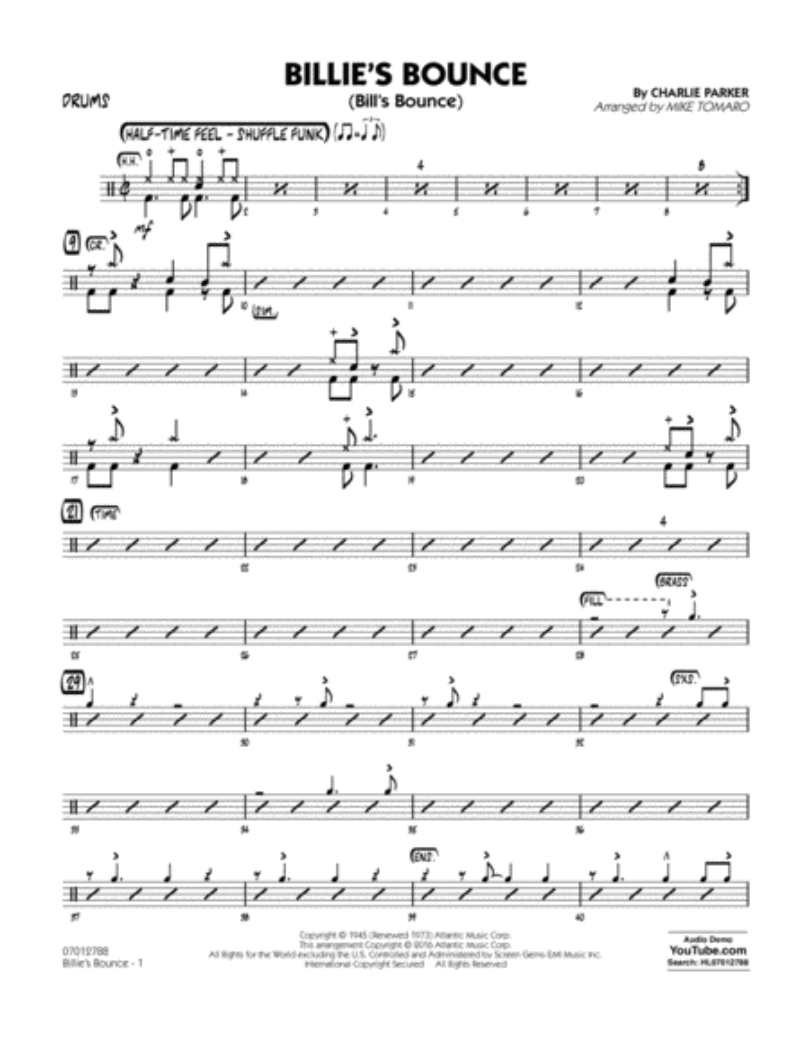 Billie's Bounce - Drums
