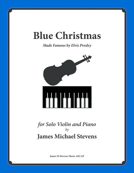 Blue Christmas by Elvis Presley (Violin & Piano)