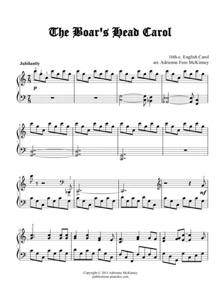 The Boar's Head Carol - Piano solo arrangement