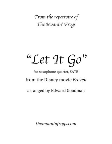 Let It Go (from Frozen) for saxophone quartet