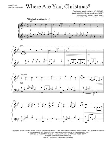 Where Are You, Christmas? (piano solo)
