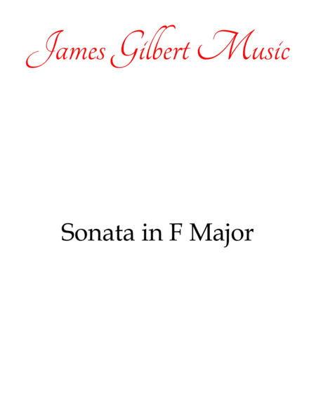 Sonata In F Major, K. 280