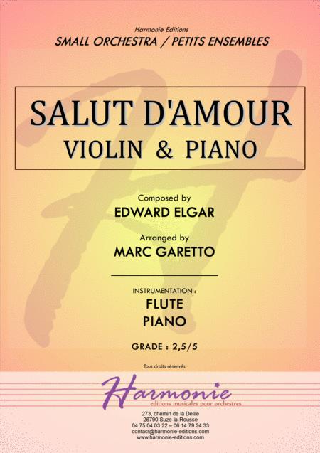 Salut d'Amour - LiebesGruss - EDWARD ELGAR - VIOLIN and PIANO - Arrangement by Marc GARETTO