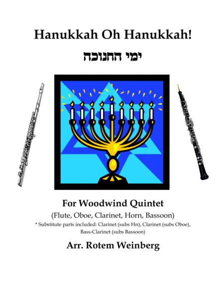 Hanukkah Oh Hanukkah - Woodwind Quintet