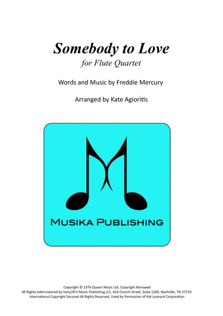 Somebody To Love - Flute Quartet