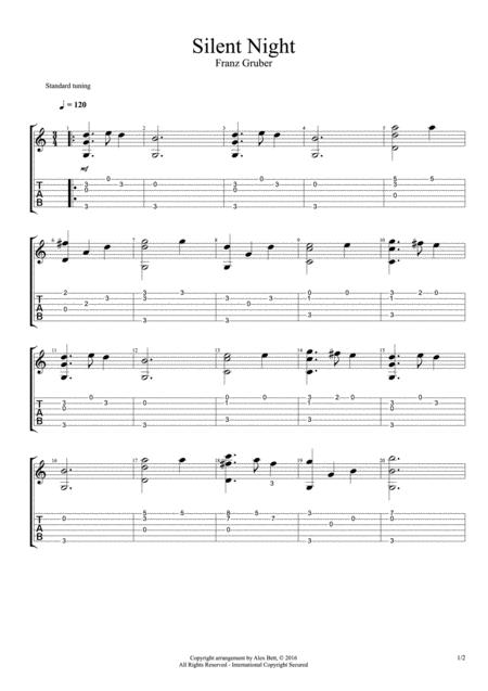 Silent Night (Classical / Acoustic Guitar Arrangement)