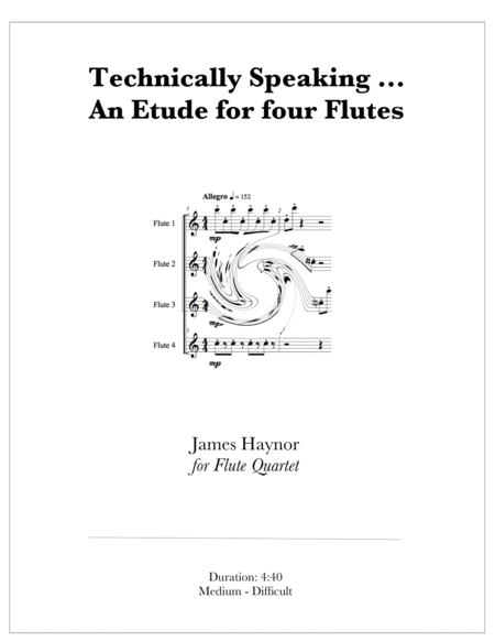 Technically Speaking - An Etude for four Flutes