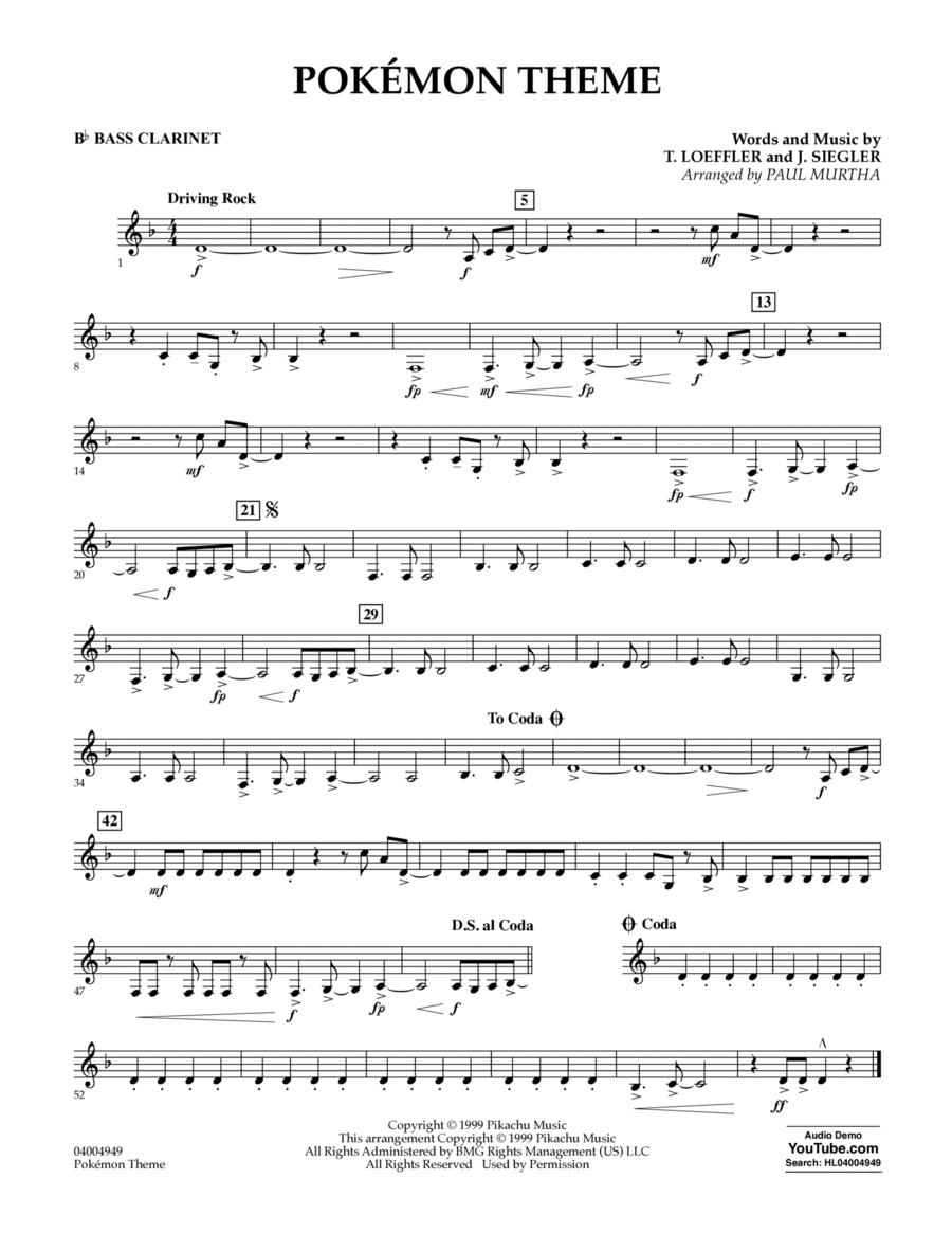 Pokemon Theme - Bb Bass Clarinet