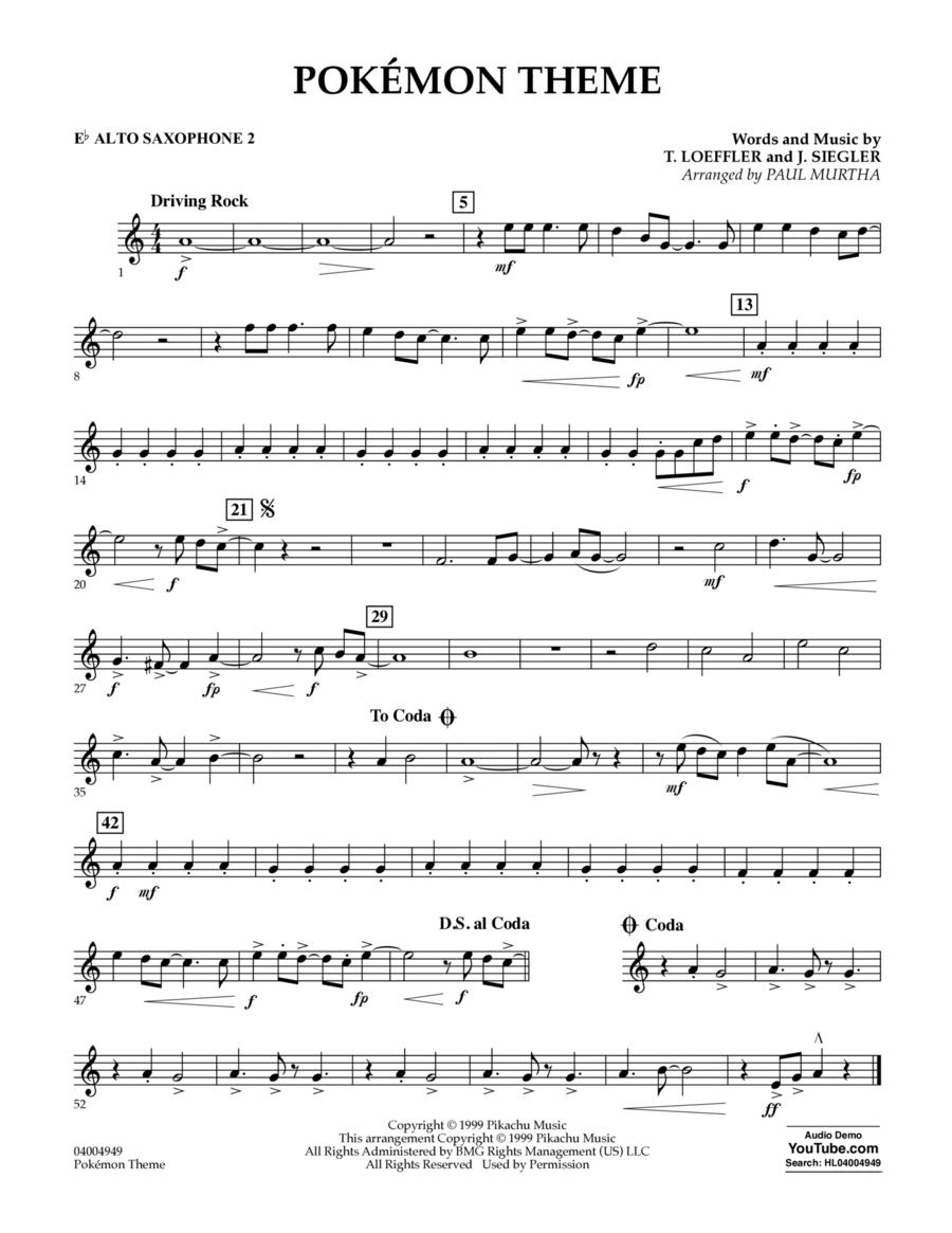 Pokemon Theme - Eb Alto Saxophone 2