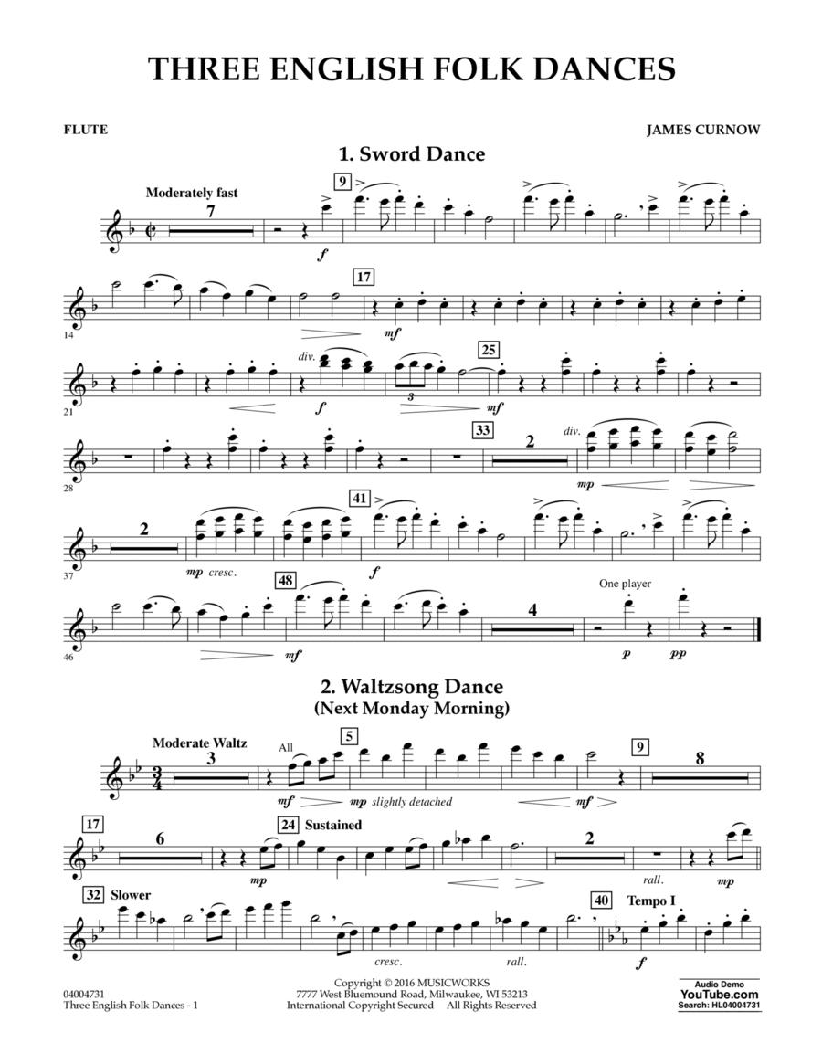 Three English Folk Dances - Flute