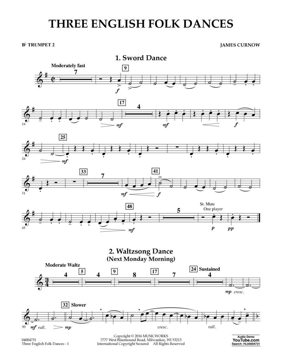 Three English Folk Dances - Bb Trumpet 2