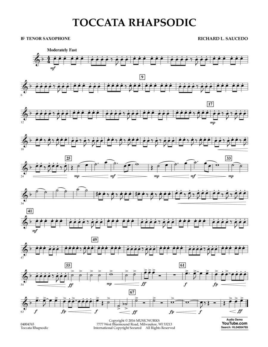 Toccata Rhapsodic - Bb Tenor Saxophone