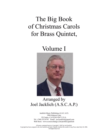 The Big Book of Christmas Carols for Brass Quintet, Vol. I