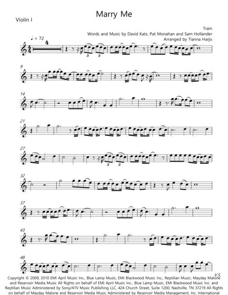 Marry Me - String Quartet