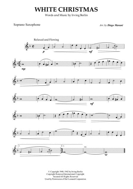 White Christmas for Saxophone Quartet
