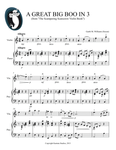 A Great Big Boo in 3 for Violin (from