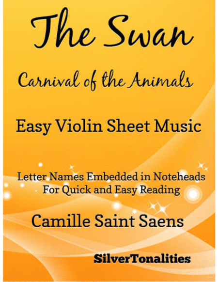 The Swan Carnival of the Animals Easy Violin Sheet Music