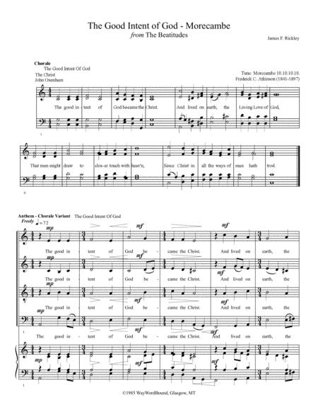 The Good Intent of God (Morecambe) - Anthem - Chorale Variant