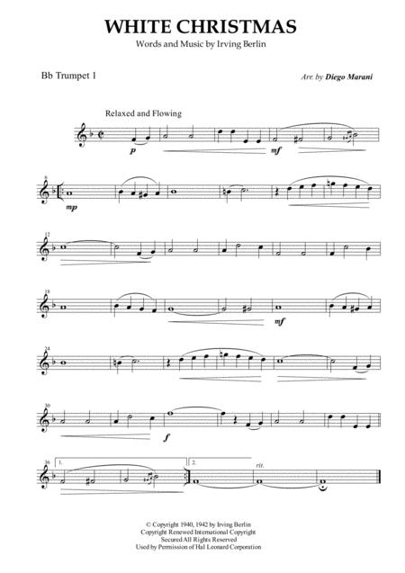 White Christmas for Brass Quartet