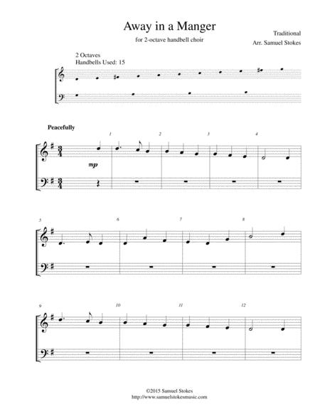 Away in a Manger - for 2-octave handbell choir