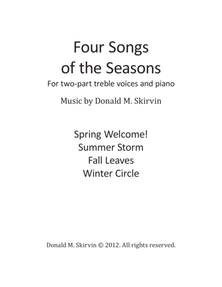 Four Songs of the Seasons (Two-Part Treble Voices)