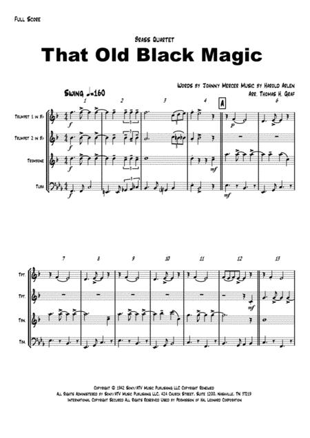That Old Black Magic - Sinatra/Ella - Brass Quartet