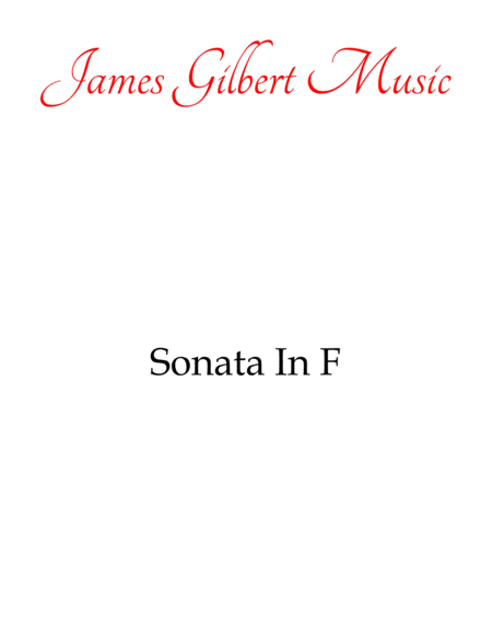 Sonata in F Major (K. 533, 494)