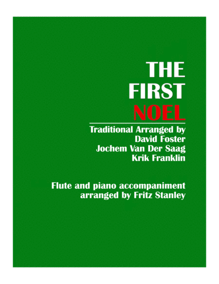 The First Noel - Flute & Piano Accompaniment