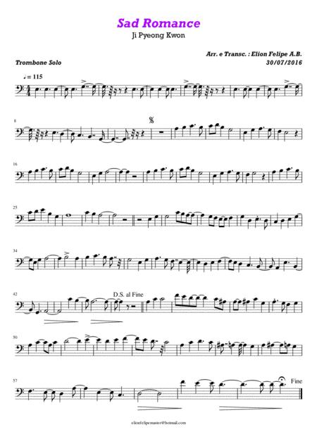 Sad Romance - Trombone