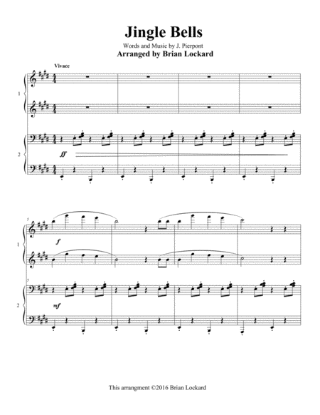 Jingle Bells Piano Four Hands