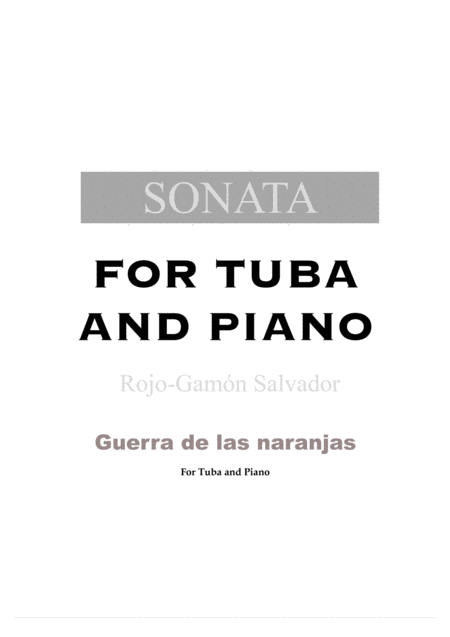 SONATA (For tuba and piano)