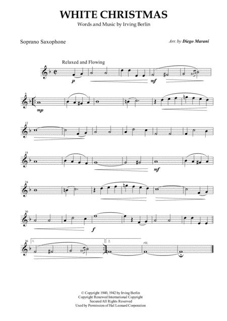 White Christmas for Saxophone Quintet