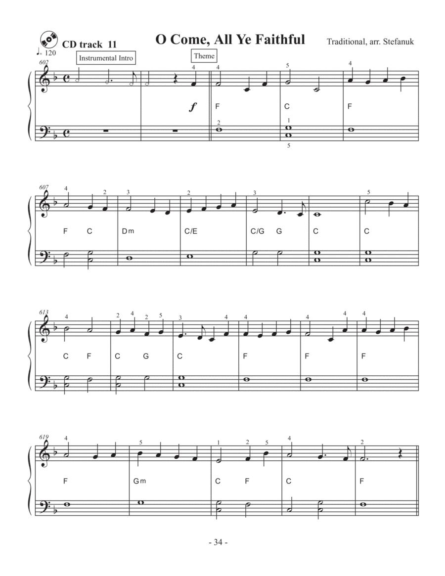 O Come, All Ye Faithful, very easy piano