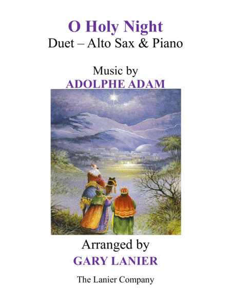 O HOLY NIGHT (Duet – Alto Sax & Piano with Parts)