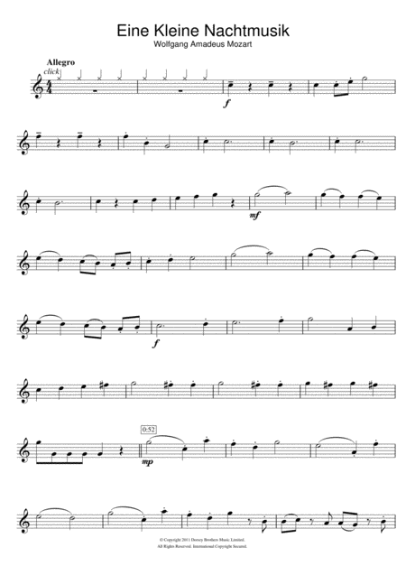 Allegro from Eine Kleine Nachtmusik K525