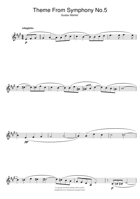 Adagietto from Symphony No.5 (4th Movement)