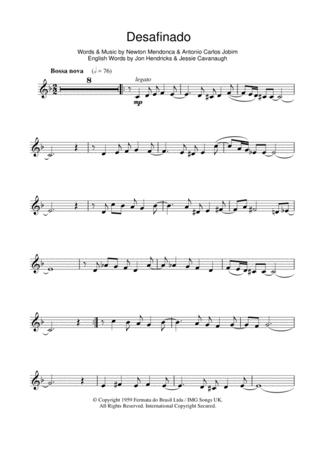Desafinado (Slightly Out Of Tune)