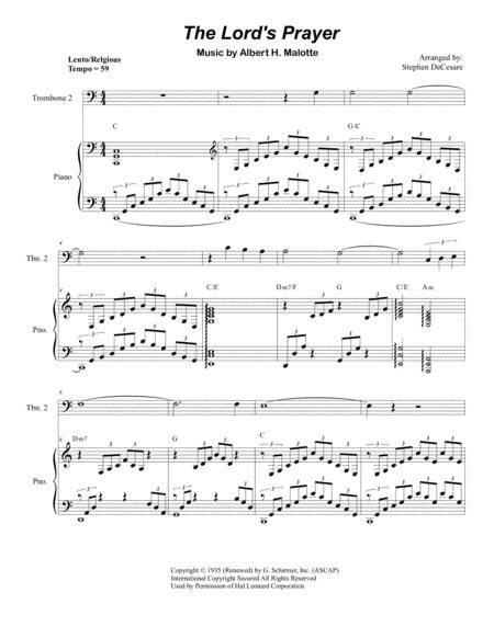 The Lord's Prayer (Trombone Duet - Piano)