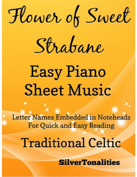 Flower of Sweet Strabane Easy Piano Sheet Music
