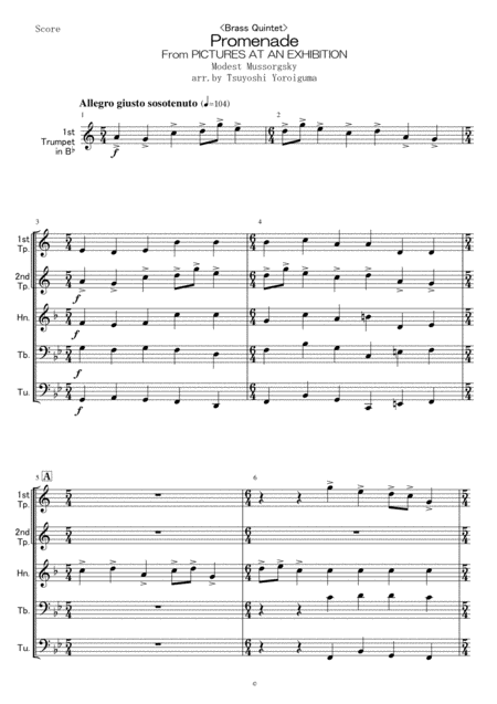 <Brass Quintet>