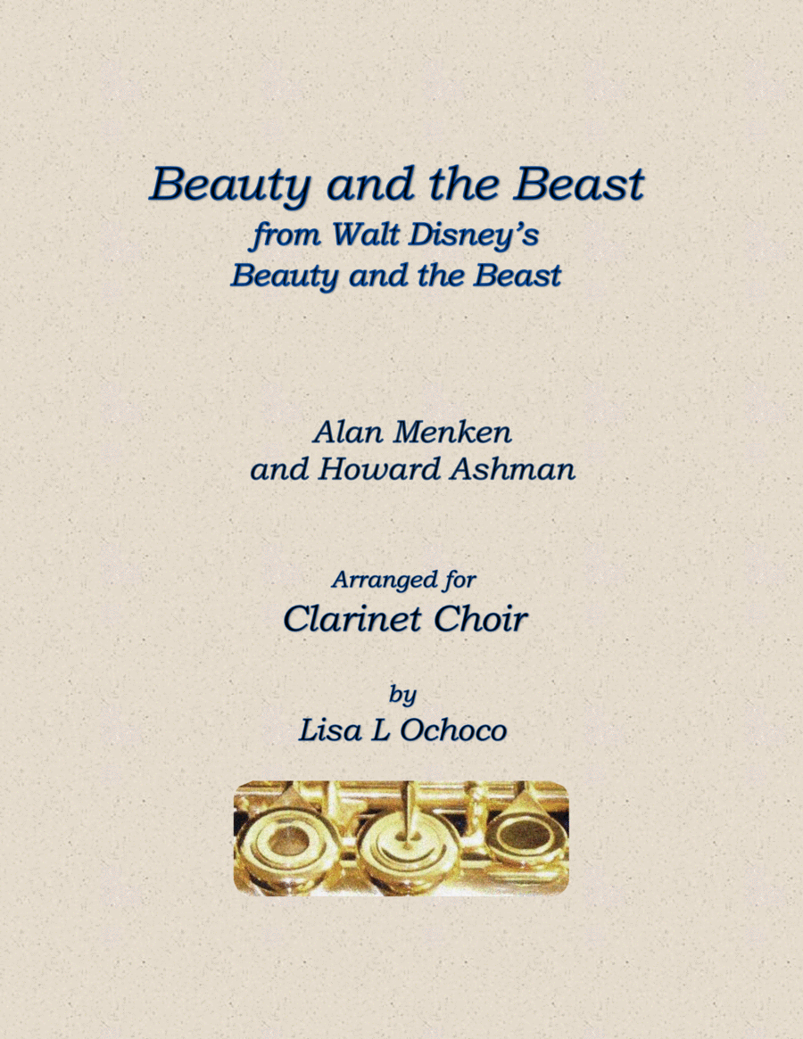 Beauty And The Beast from Walt Disney's Beauty and the Beast for Clarinet Choir