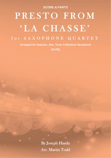 Presto from 'La Chasse' for Advanced Saxophone Quartet (SATB)