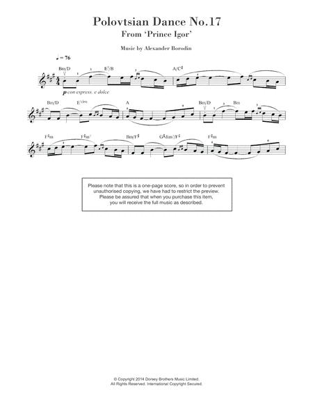 Polovtsian Dance No.17 (from 'Prince Igor')