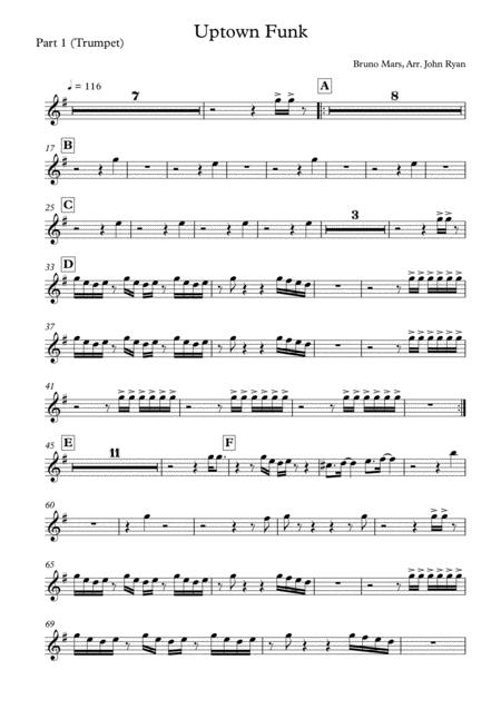 Uptown Funk, Wedding Band Arrangement (Horns + Rhythm)