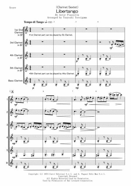 Libertango(Clarinet Sextet)